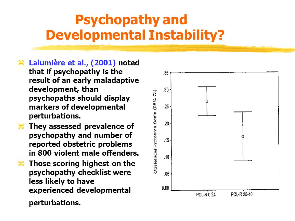 Psychopathy and Developmental Instability.