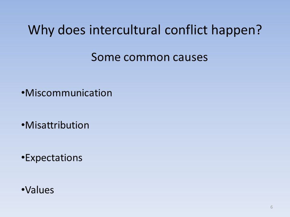 Why does intercultural conflict happen.