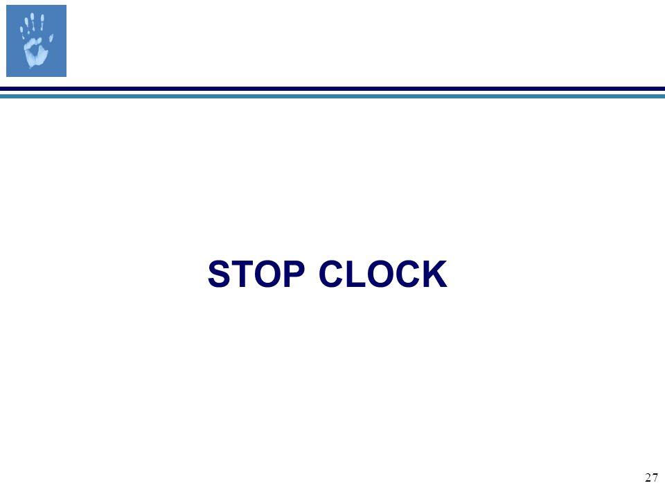 27 STOP CLOCK