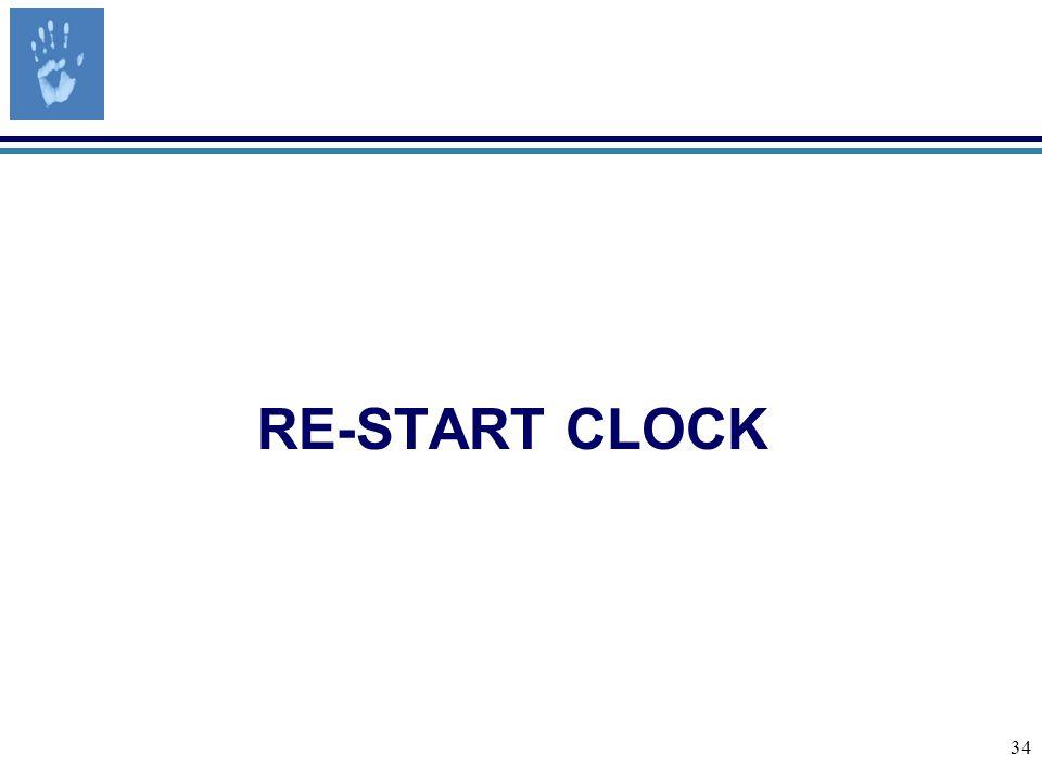 34 RE-START CLOCK