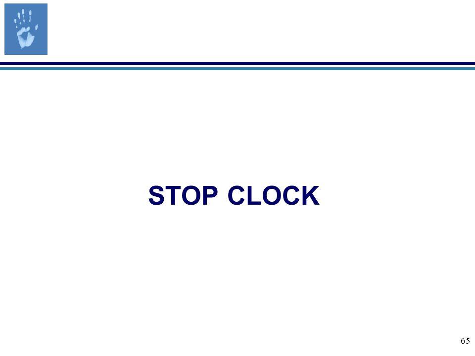65 STOP CLOCK