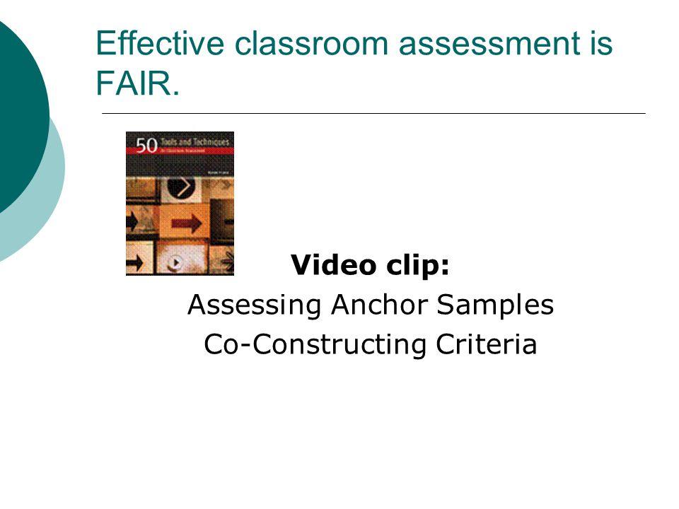 Effective classroom assessment is FAIR.