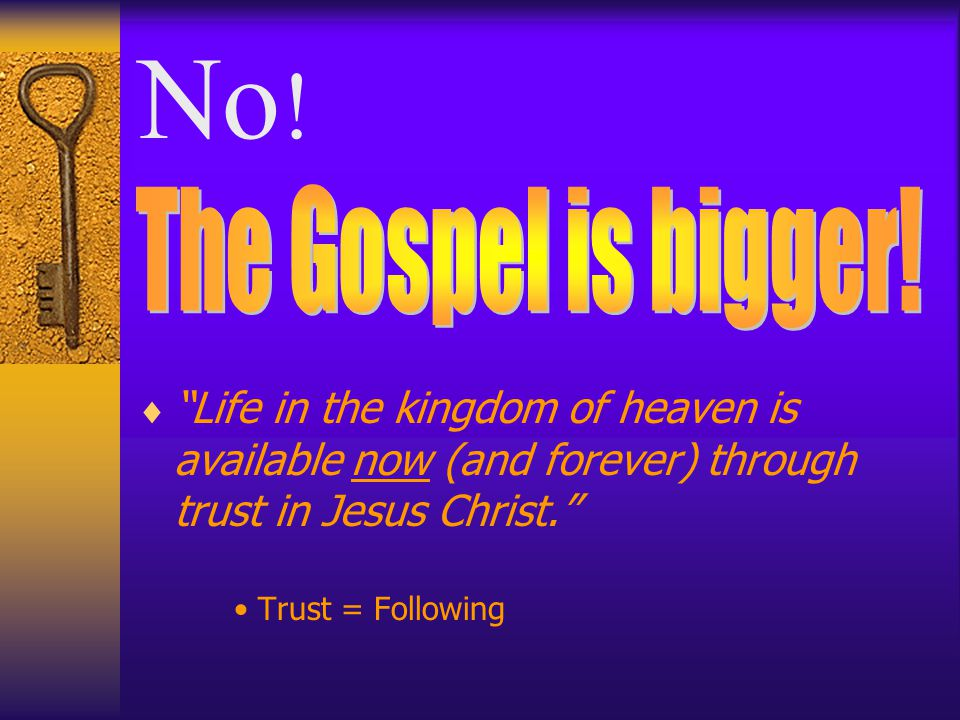 What is the Gospel of Jesus Christ.