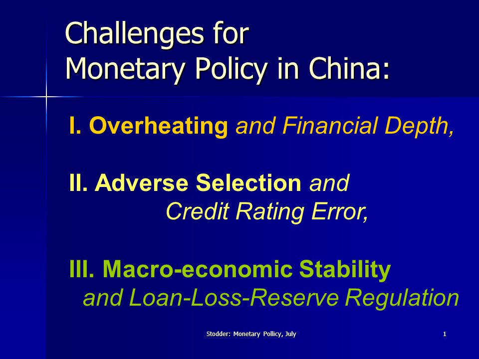 Stodder: Monetary Pollicy, July2 I.Overheating 1.