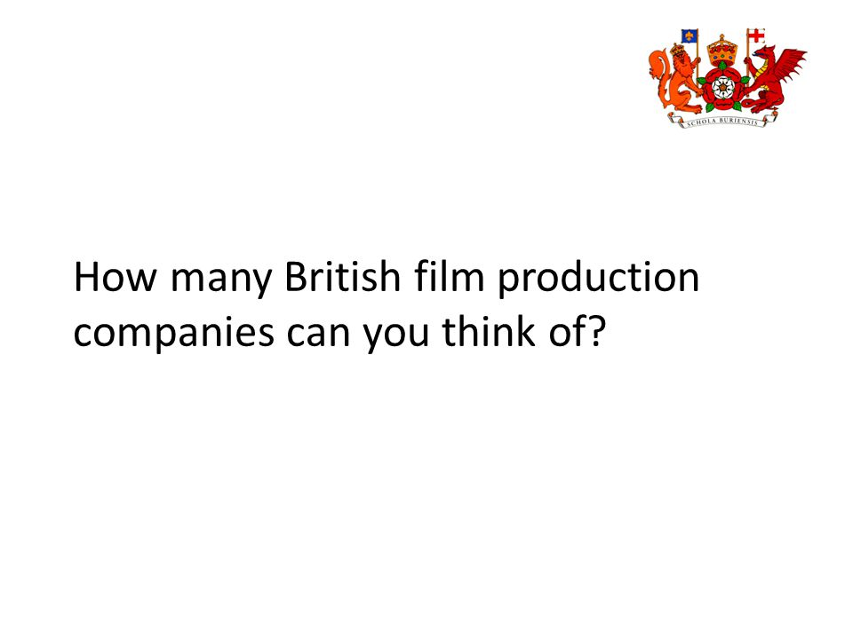 How many British film production companies can you think of?