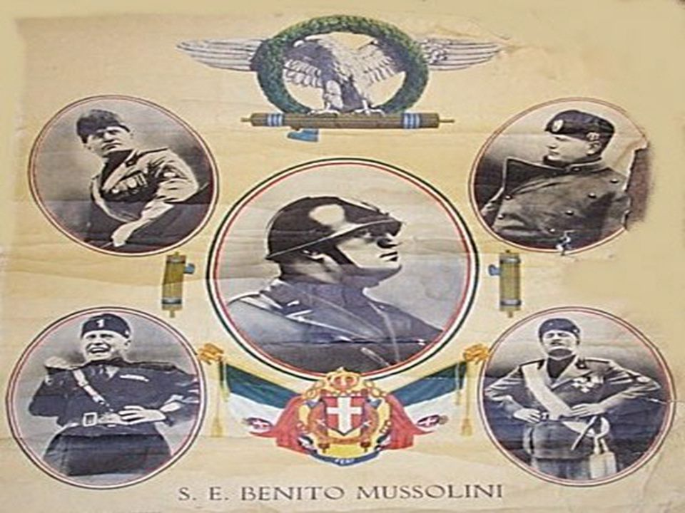 Mussolini Gains Control of Government Mussolini promoted strong nationalism and patriotism.
