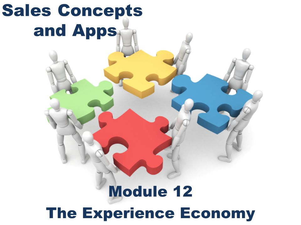 Sales Concepts and Apps Module 12 The Experience Economy
