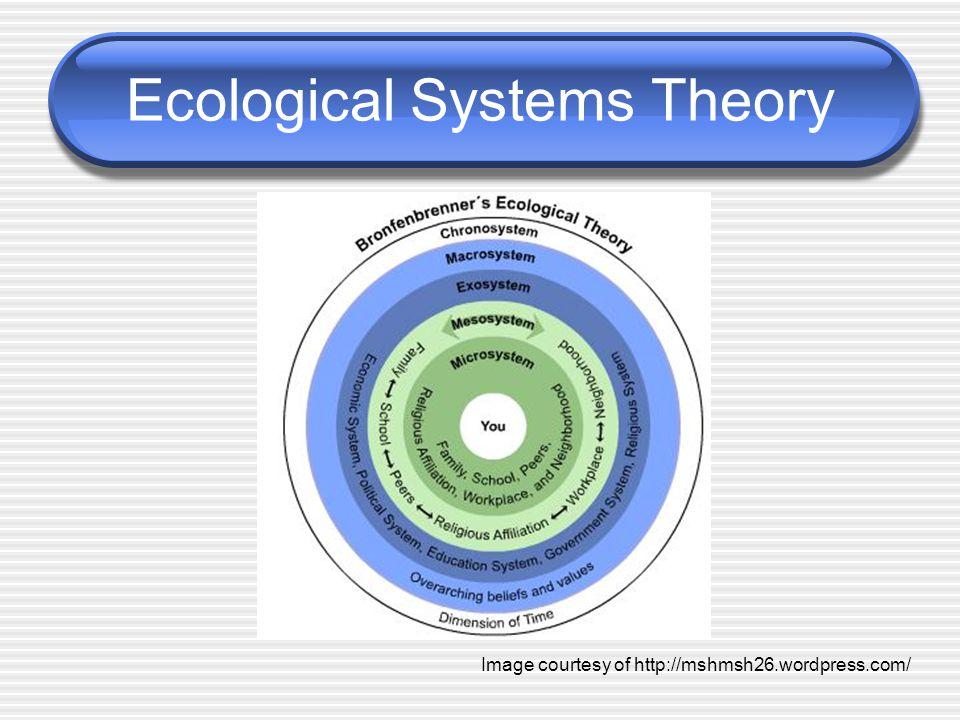 Ecological Systems Theory Image courtesy of http://mshmsh26.wordpress.com/