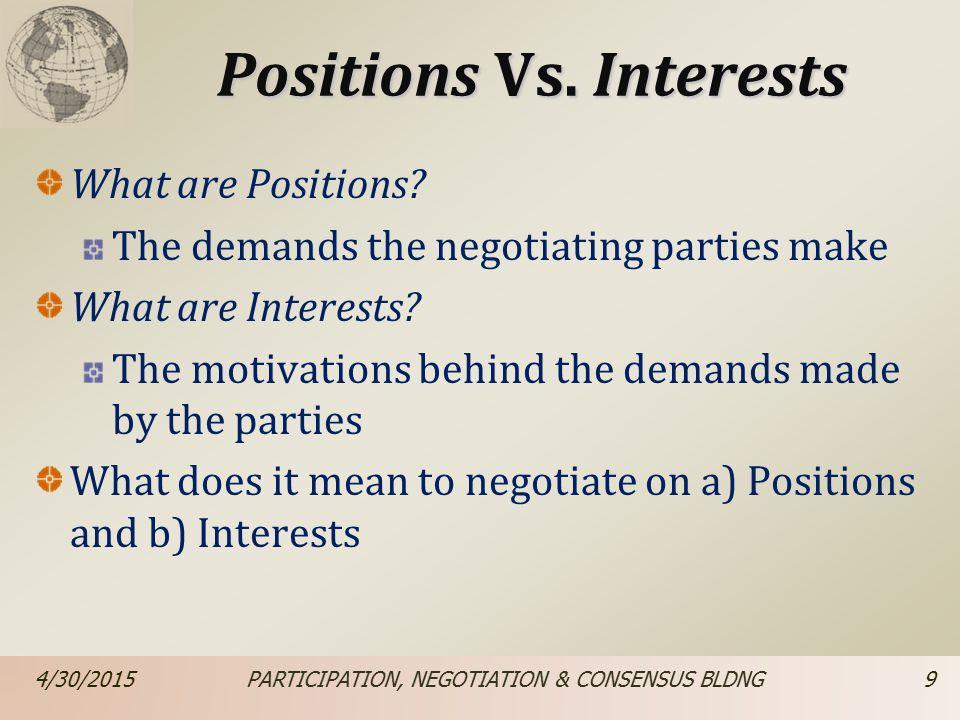 Positions Vs.
