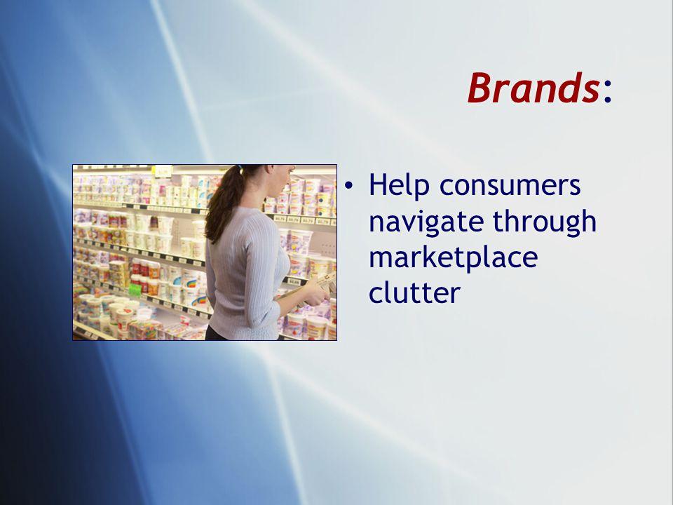 Brands: Help consumers navigate through marketplace clutter