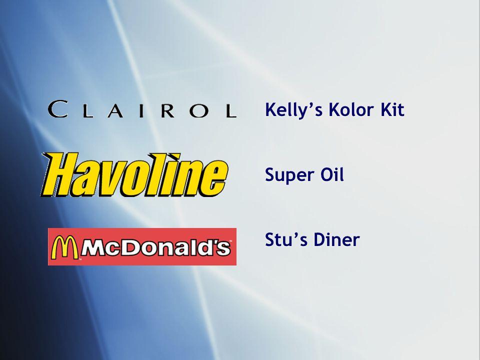 Kelly's Kolor Kit Super Oil Stu's Diner Kelly's Kolor Kit Super Oil Stu's Diner