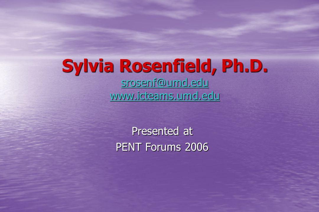 Sylvia Rosenfield, Ph.D.