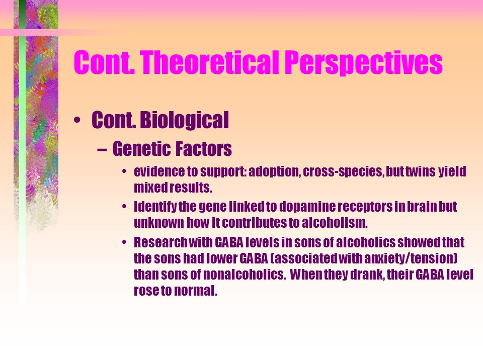 Cont. Theoretical Perspectives Cont.