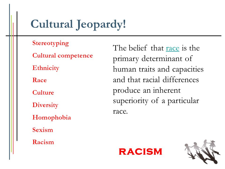 The belief that race is the primary determinant of human traits and capacities and that racial differences produce an inherent superiority of a partic