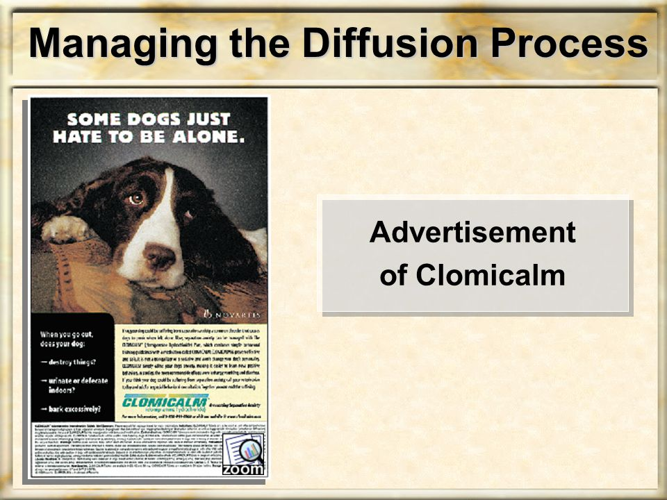 Managing the Diffusion Process Advertisement of Clomicalm