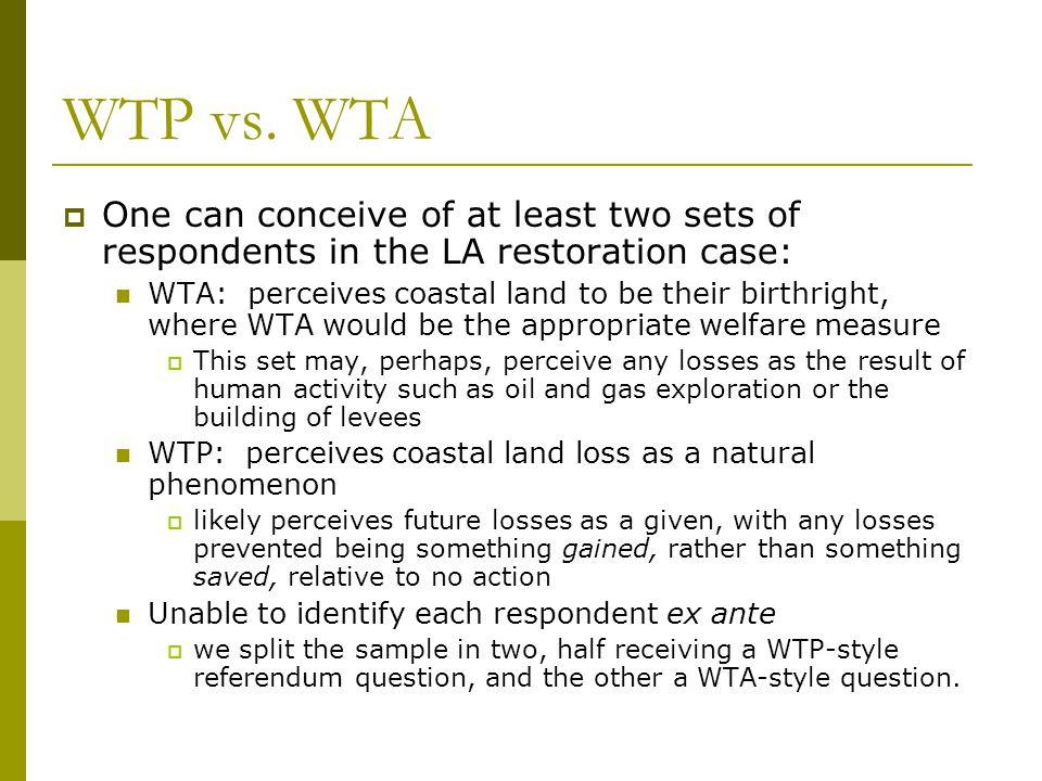 WTP vs.