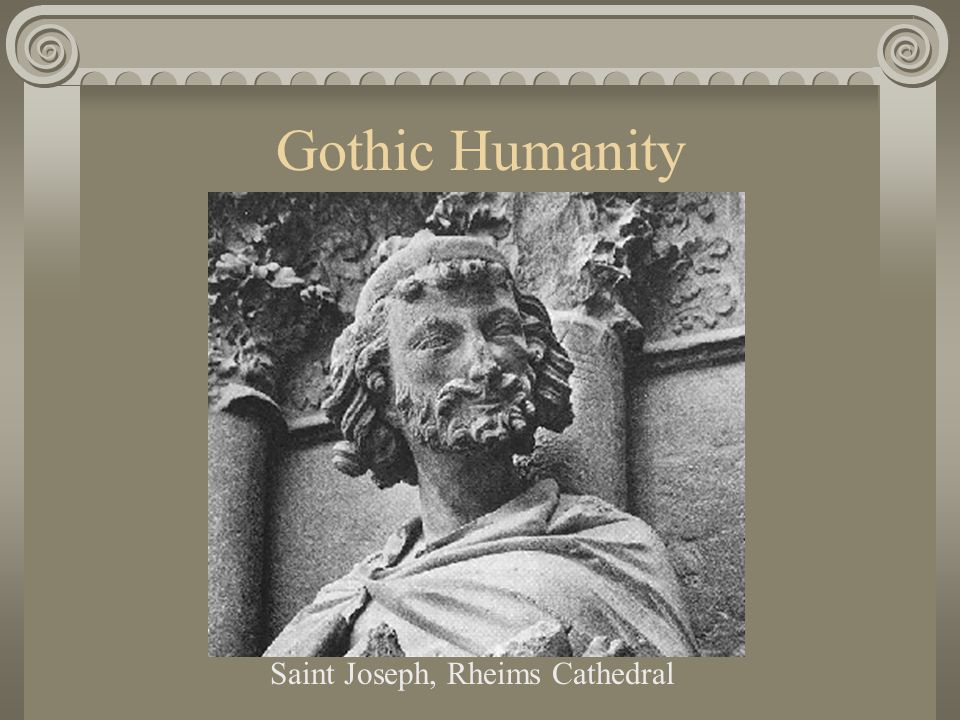 Gothic Humanity Saint Joseph, Rheims Cathedral