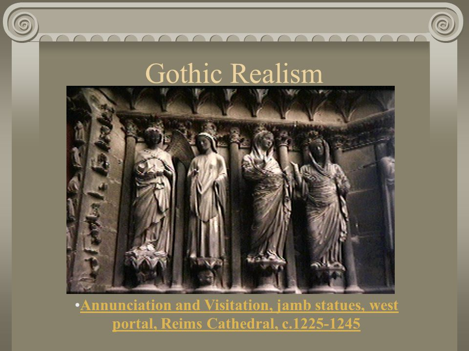 The Gothic Style Sculptural forms slowly lost their function as architectural detailing.