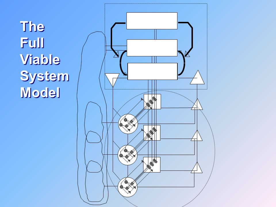 Three Four Five 3. Control 5. Policy 4. Strategy The Full Viable System Model