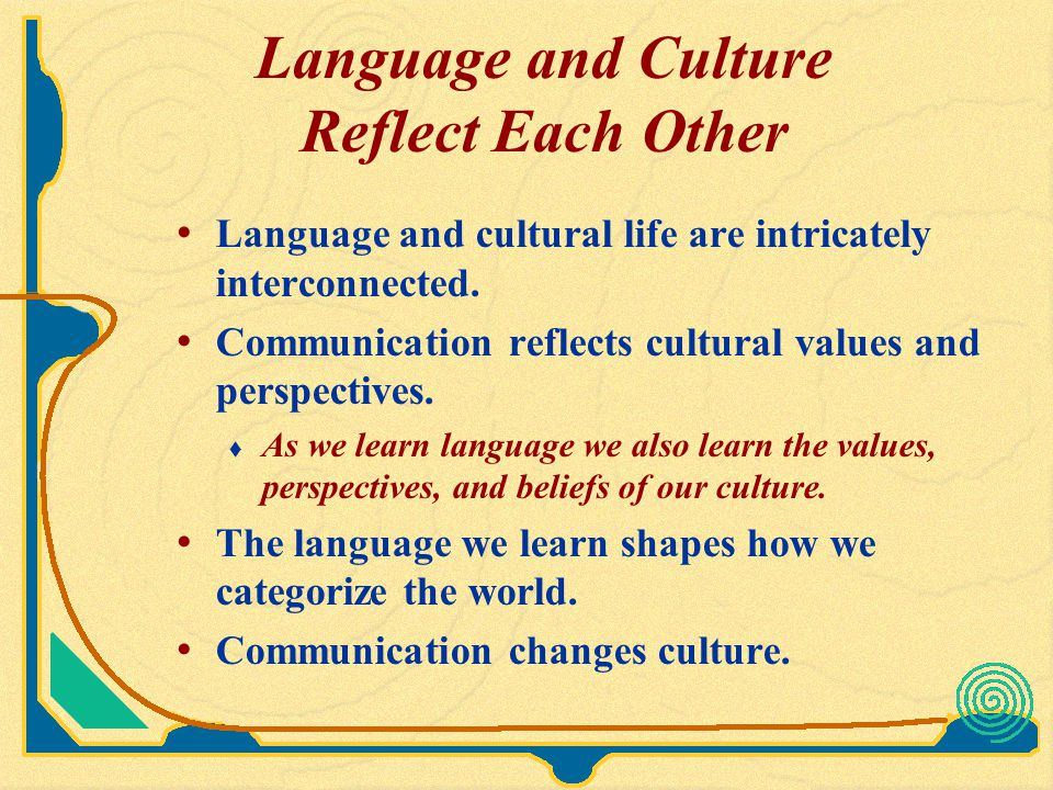 Meanings of Language are Subjective Meanings are never self-evident or absolute.