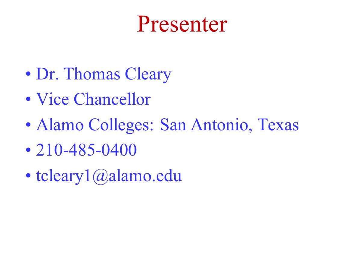 Presenter Dr.