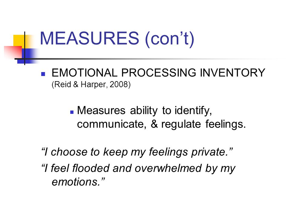 MEASURES (con't) SELF-COMPASSION SCALE (Neff, 2003) Measures self-kindness, common humanity, mindfulness I'm tolerant of my own flaws and inadequacies. When times are tough, I tend to be tough on myself.