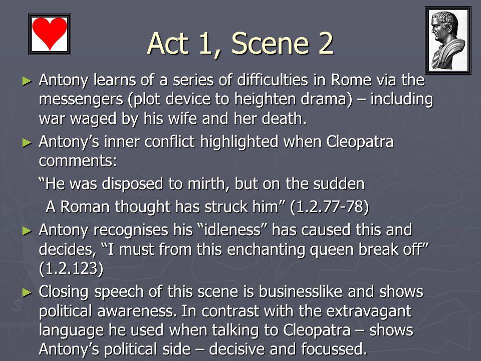 Antony's Demise ► Act IV (15) ► BUT Tragic: ► So forgiving of Cleopatra.