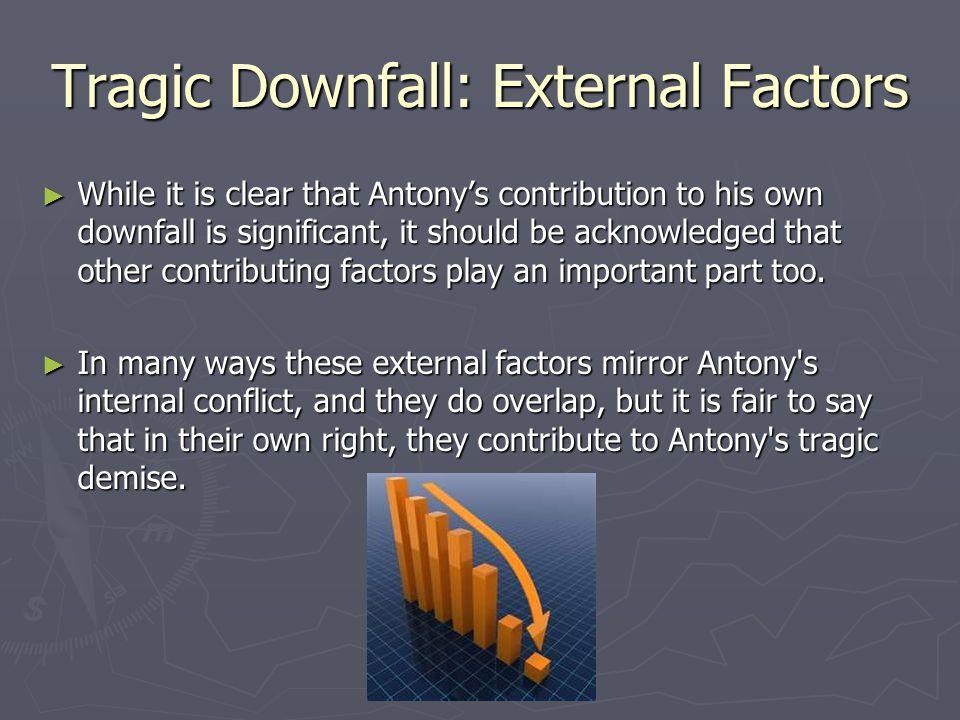 Tragic Downfall: External Factors ► Characterisation  Cleopatra  Octavius Caesar ► Setting  Egypt  Rome ► Theme  Fate/Destiny