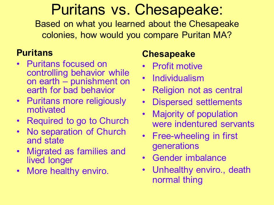 Puritans vs.