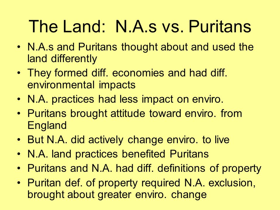 The Land: N.A.s vs.