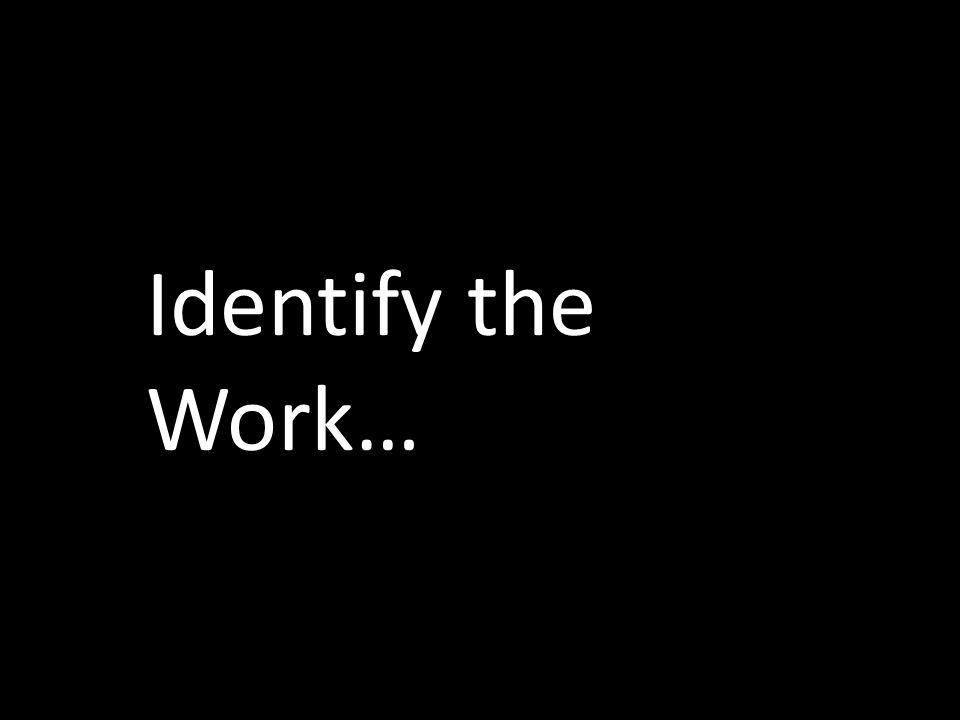 Identify the Work…