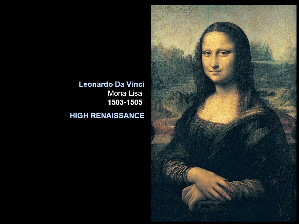 Leonardo Da Vinci Mona Lisa ca. 1503-1505. HIGH RENAISSANCE