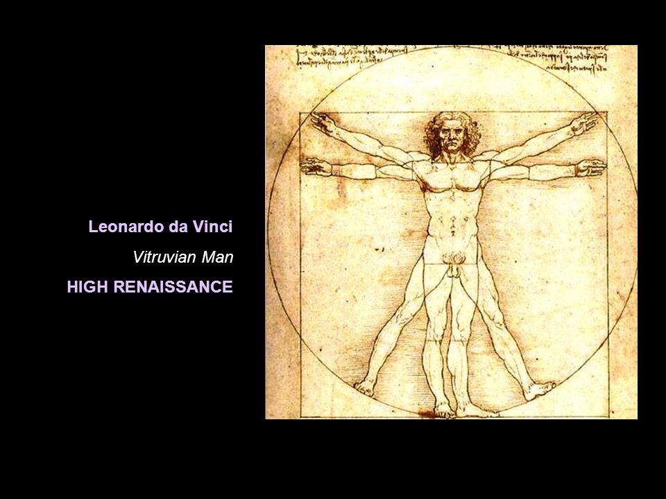 Leonardo da Vinci Vitruvian Man HIGH RENAISSANCE