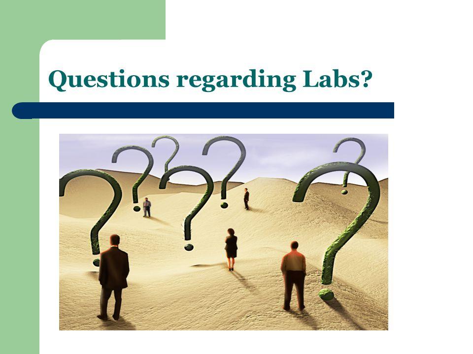 Questions regarding Labs