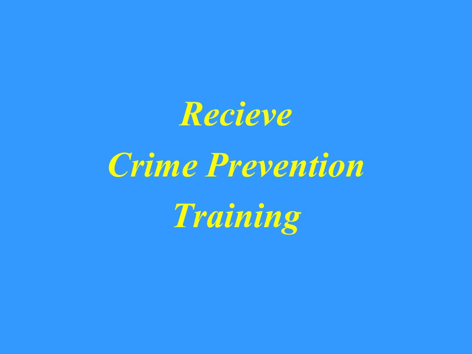 Remember Crime Prevention is Everyone's Responsibility This Is Your Community The Beavercreek Police Dept.
