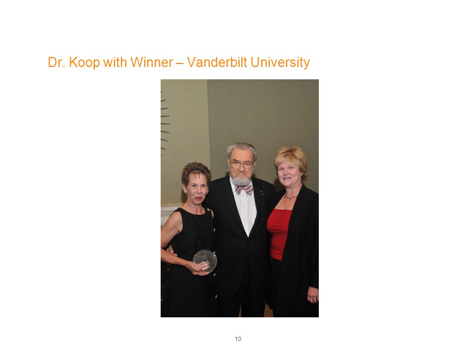 Dr. Koop with Winner – Vanderbilt University 10
