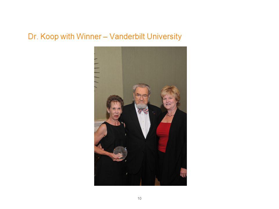 Dr. Koop with Winner – Vanderbilt University 10