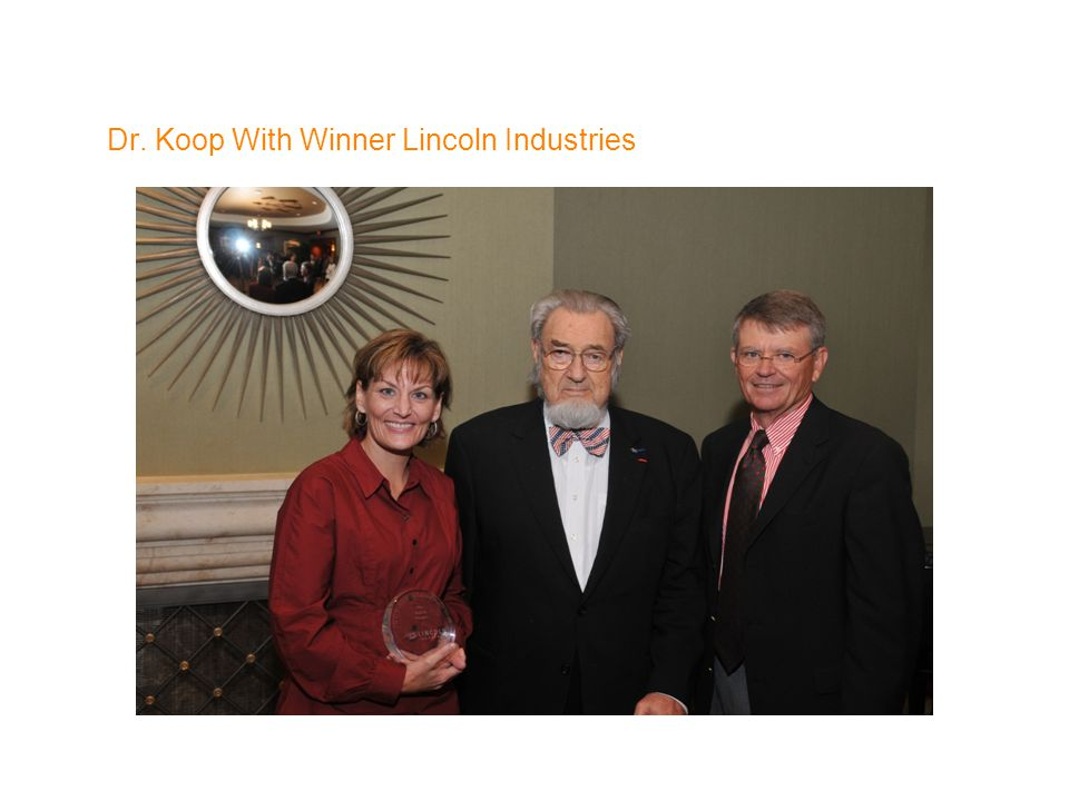 Dr. Koop With Winner Lincoln Industries