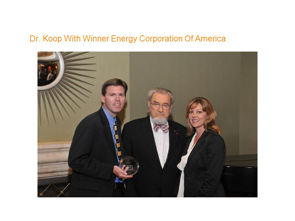 Dr. Koop With Winner Energy Corporation Of America