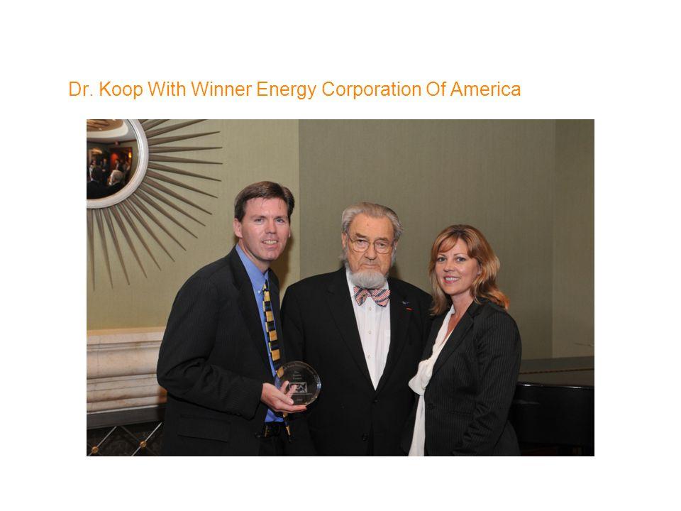 Dr. Koop With Winner Energy Corporation Of America