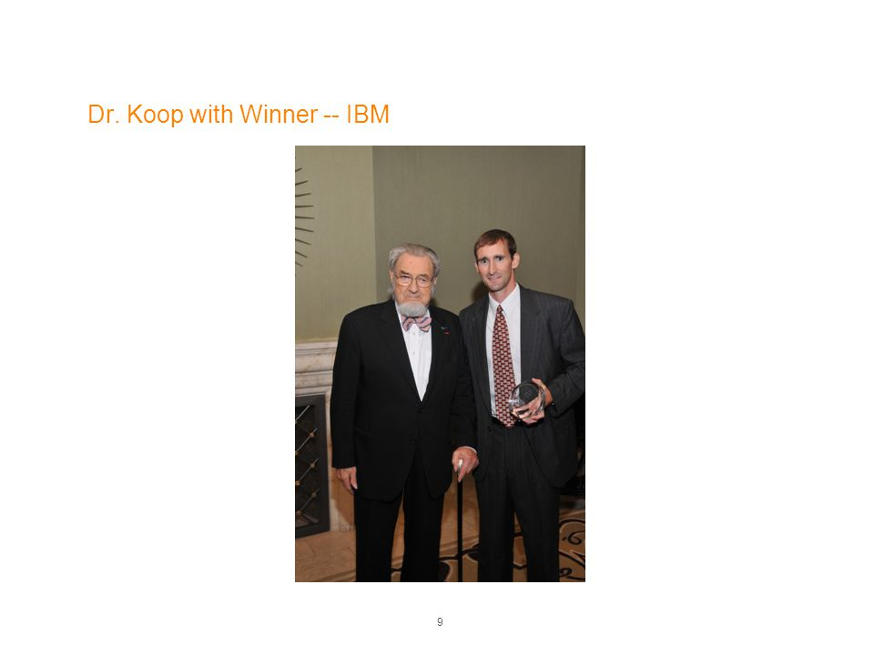 Dr. Koop with Winner -- IBM 9