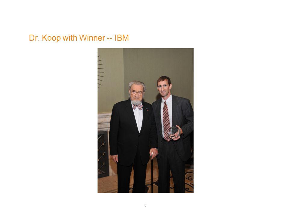 Dr. Koop with Winner -- IBM 9