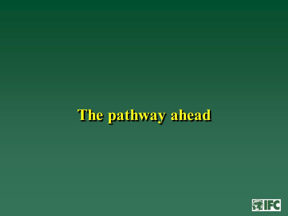 The pathway ahead