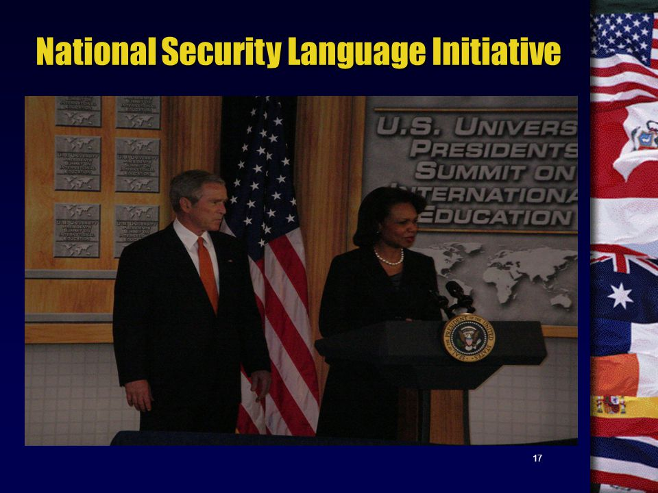 17 National Security Language Initiative