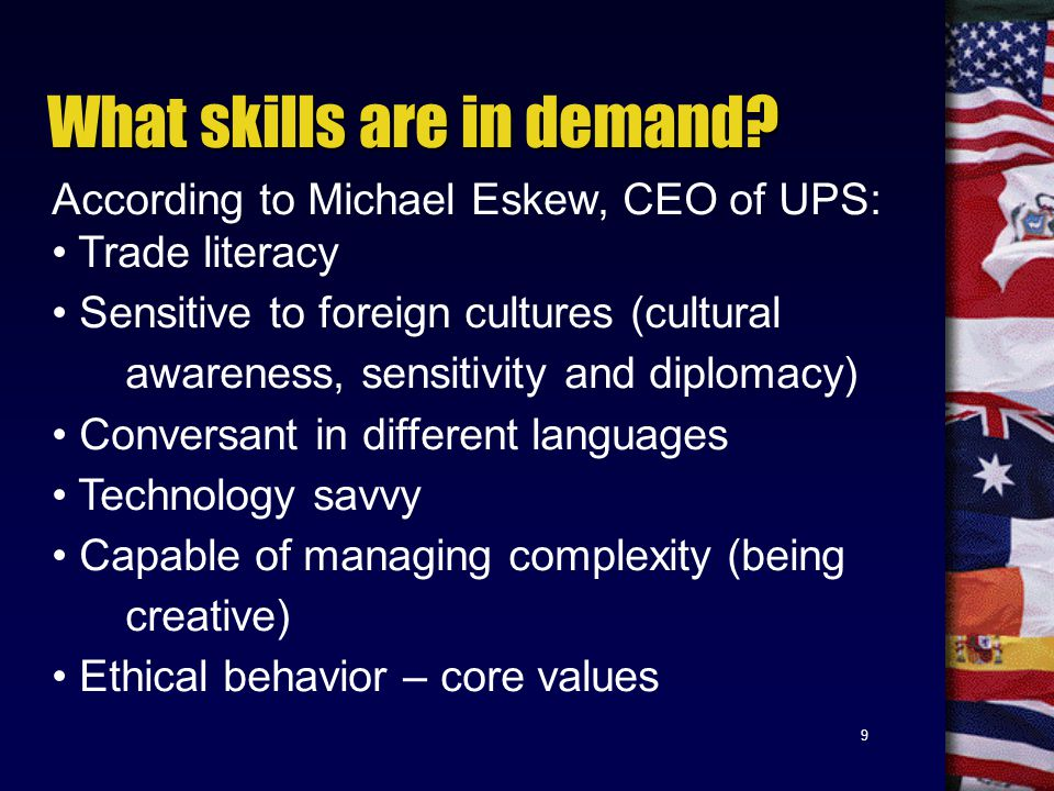 9 What skills are in demand.