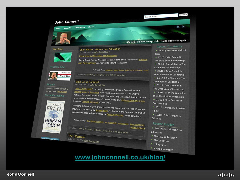 John Connell www.johnconnell.co.uk/blog/