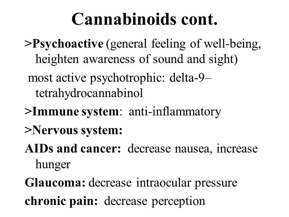 Cannabinoids cont.