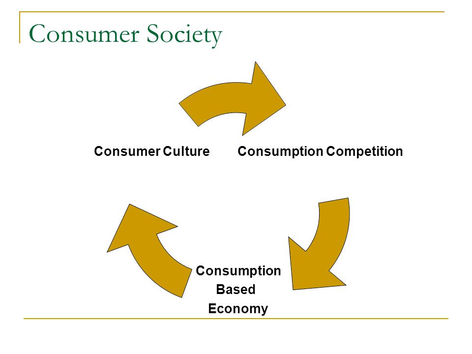 Consumer Society Consumption Competition Consumption Based Economy Consumer Culture