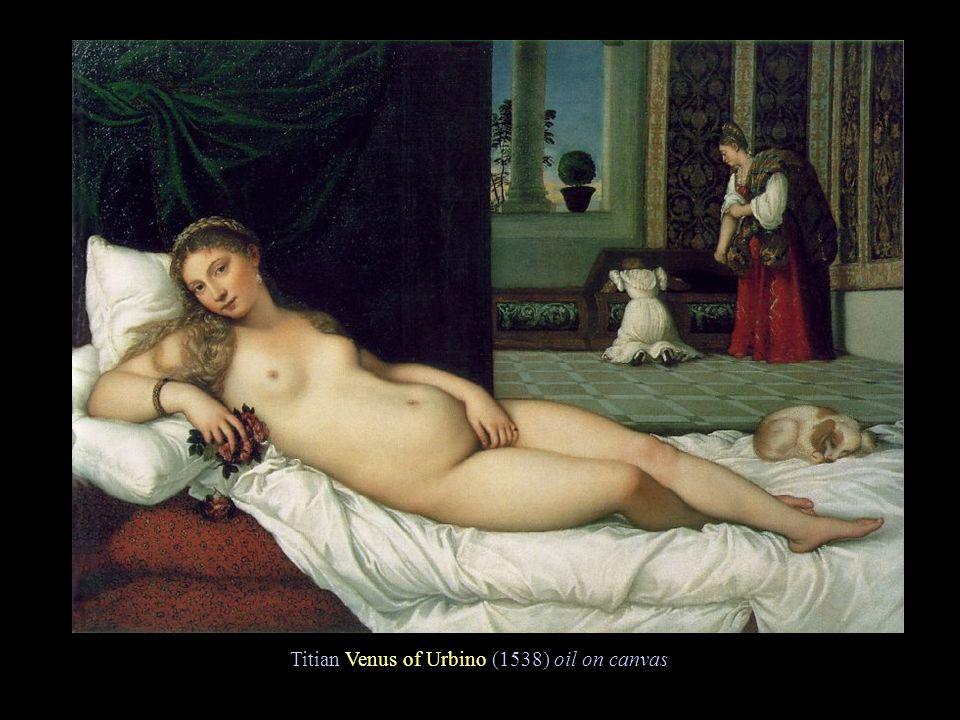 Titian Venus of Urbino (1538) oil on canvas