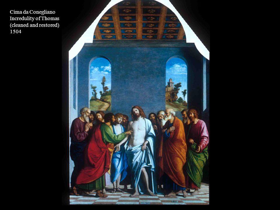 Cima da Conegliano Incredulity of Thomas (cleaned and restored) 1504